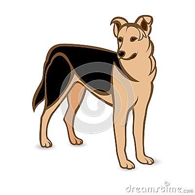 Realistischer Schäferhund
