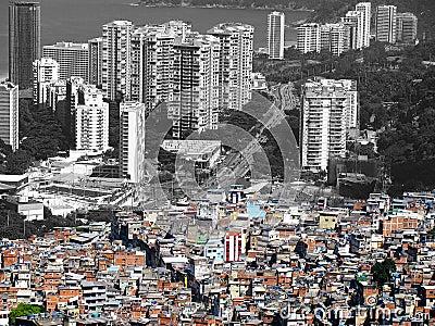 Crowded city of Rio de Janeiro