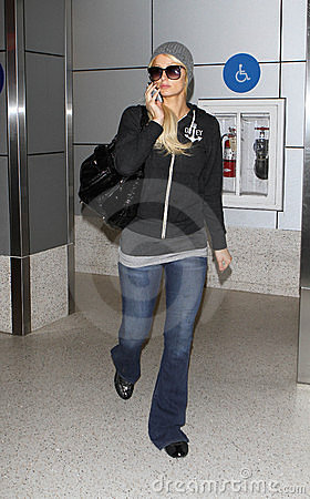 Reality star Paris Hilton at LAX . Editorial Stock Photo