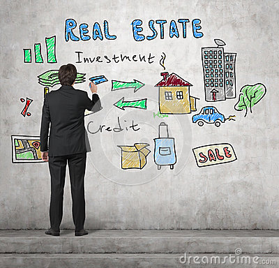 Free Realtor Drawing Real Estate Concept Stock Photo - 51187390