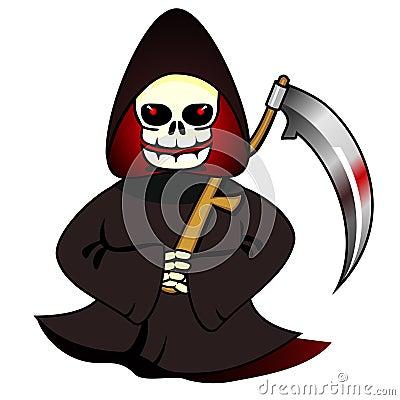 Reaper with scythe