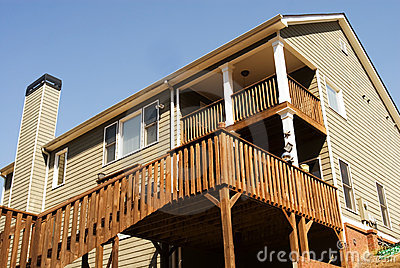 Rear Deck Area of Home