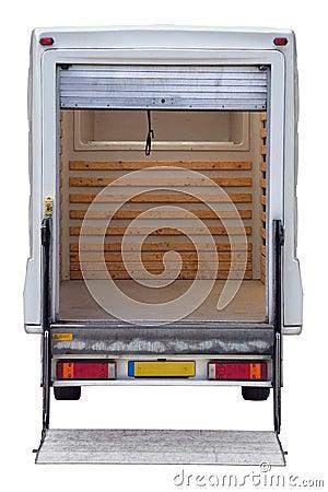 Rear of empty box van
