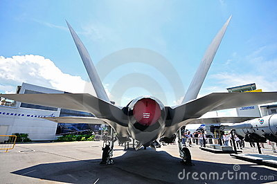 Rear of F-35 Joint Strike Fighter Editorial Photo