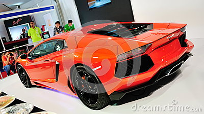 Rear of Lamborghini Aventador LP 700-4 Editorial Photography