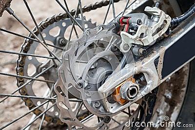 Rear sport motocross bike wheel with brake
