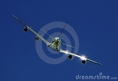 Rear view of Airbus A-380