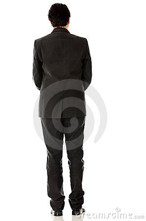 Rear view of a businessman