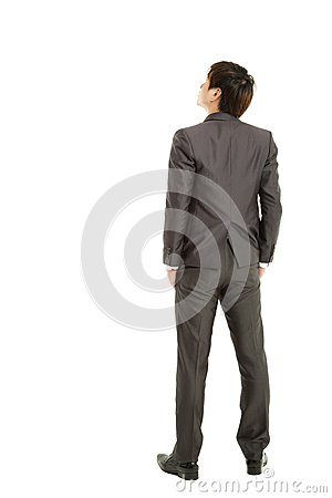 Rear view businessman