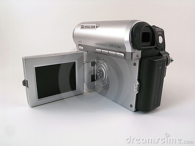 Rear view of a compact consumer camcoder