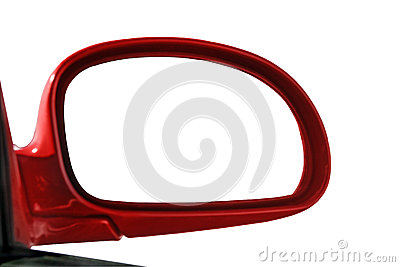Rear view mirror isolated for creative montage