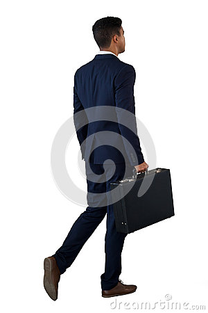 Free Rear View Of Businessman Walking With Briefcase Stock Photography - 96369062