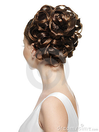 Free Rear View Of The Woman With Curly Hairstyle Royalty Free Stock Photography - 17681927