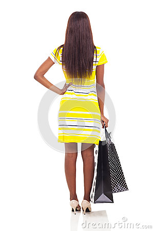 Free Rear View Woman Shopping Royalty Free Stock Images - 33780429