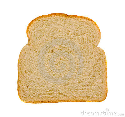 Rebanada de pan blanco fresco