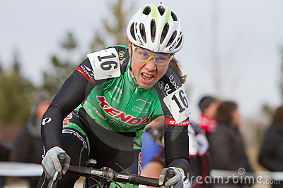 Rebecca Blatt - Pro Woman Cyclocross Racer Editorial Stock Photo