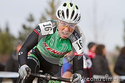 Rebecca Blatt - Pro Woman Cyclocross Racer Editorial Stock Photo