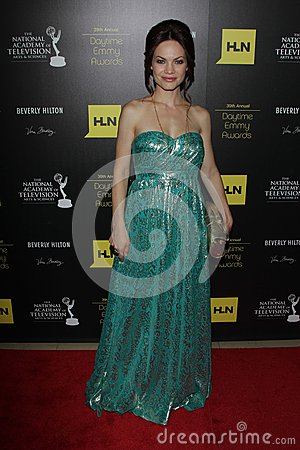 Rebecca Herbst at the 39th Annual Daytime Emmy Awards, Beverly Hilton, Beverly Hills, CA 06-23-12 Editorial Stock Photo