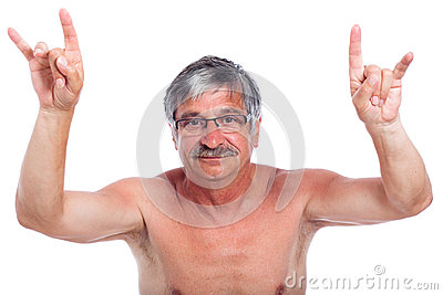 Rebel man gesturing