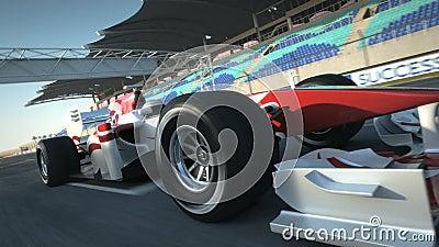 Reca One Race-bil Mycket snabb körning animering