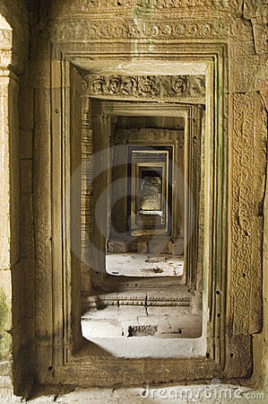 Receding Doorways at Angkor