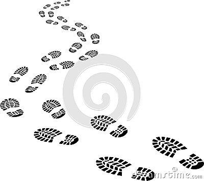 Free Receding Footprints Royalty Free Stock Photos - 31408468