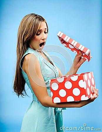 Receive a present