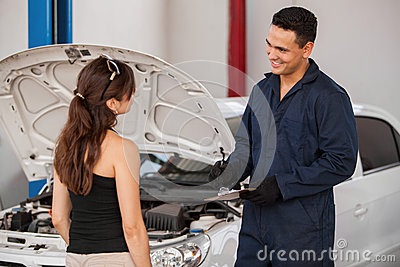 Receiving car from a customer