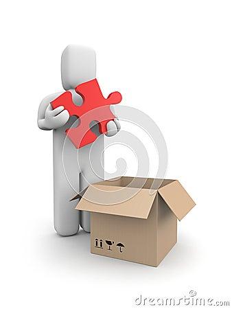 Receiving or sending parcel