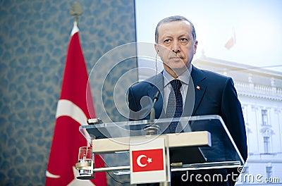 Recep Tayyip Erdogan Editorial Stock Photo