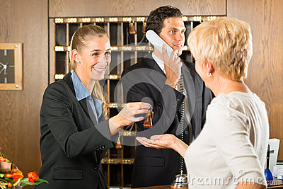 Reception - Guest checking in a hotel