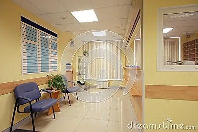 Reception in hospital