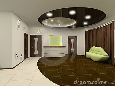 Interior Design Furniture on Reception Interior Design Hall With Furniture Royalty Free Stock