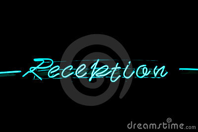 Reception neon sign