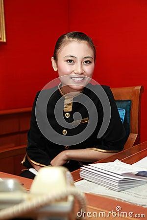 Receptionist or secretary
