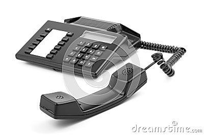 Receptor de teléfono pasado de moda