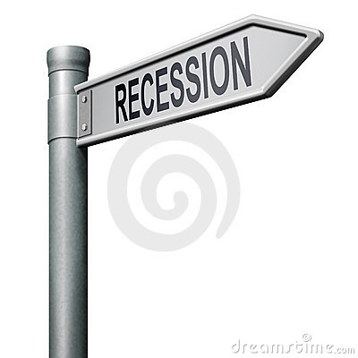 Recession bank or financial crisis stock crash