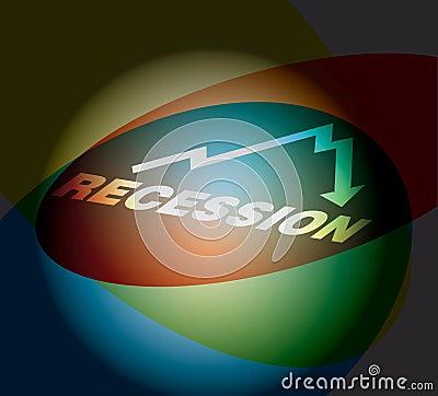Recession - busines concept