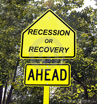 Recession or recovery sign.