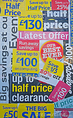 Free Recession: Reduced Prices And Special Offers. Stock Image - 12759161