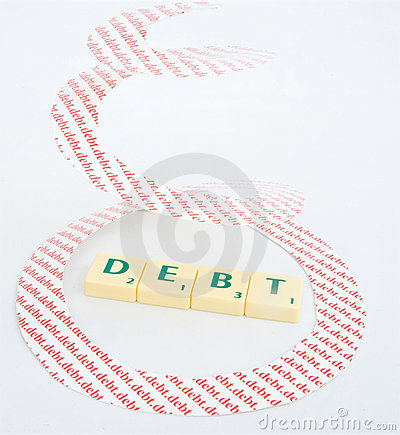 Free Recession: Spiraling Debt Royalty Free Stock Photography - 11764617