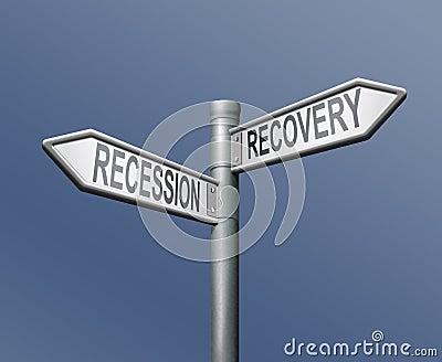 Recessione o ripristino finanziario o crisi della banca