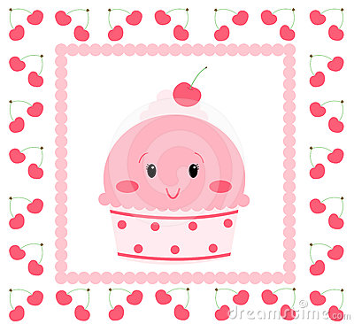 Recht rosafarbene Eiscreme
