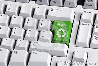 Reciclaje de símbolo en el teclado