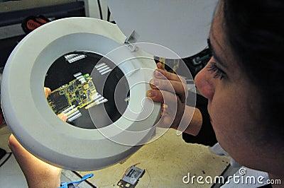 Reciclaje del teléfono móvil Foto de archivo editorial
