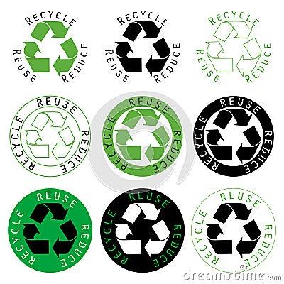 Recicle la reutilización reducen