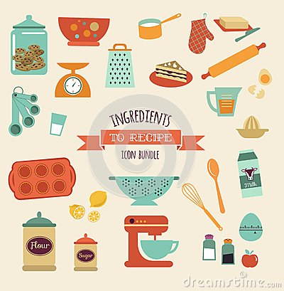 Free Recipe And Kitchen Vector Design, Icon Set Royalty Free Stock Image - 40219016