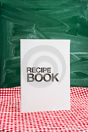 Recipe book on a kitchen table