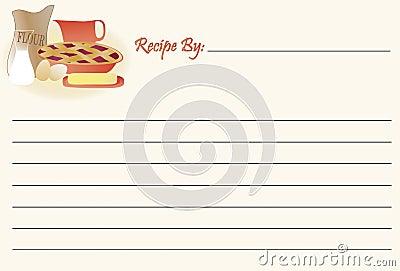 Recipe Card - Baking