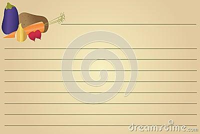 Recipe Card - Vegetables